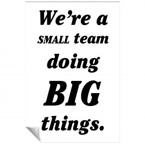 Small Team Inspirational Art