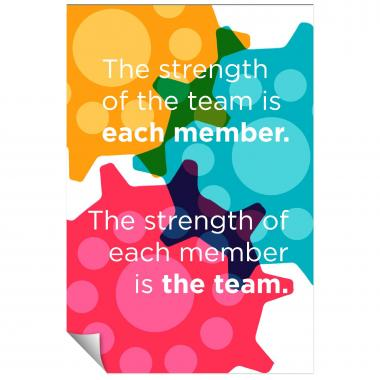 Strength Of The Team Inspirational Art