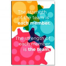 Workplace Wisdom - Strength Of The Team Inspirational Art