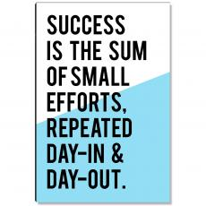 Motivational Posters - Success Is The Sum Inspirational Art
