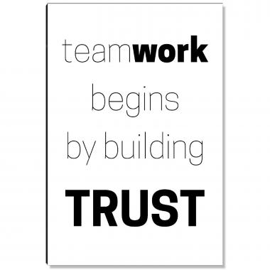 Teamwork Begins Inspirational Art