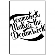 Workplace Wisdom - Teamwork Dreamwork Banner Inspirational Art