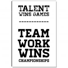 Workplace Wisdom - Teamwork Wins Inspirational Art