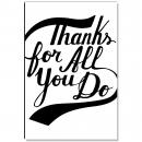 Thanks For All You Do Banner Inspirational Art