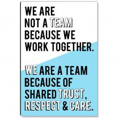 Workplace Wisdom - We Are A Team Inspirational Art