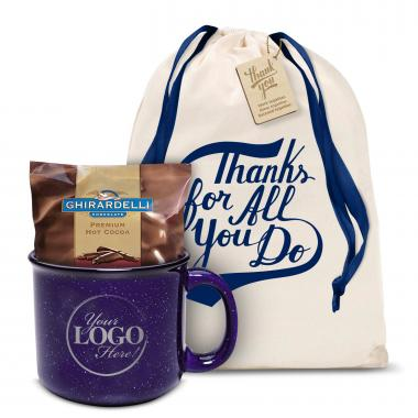 Ceramic Camp Mug Gift Set Logo