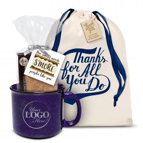 Ceramic Camp Mug Gift Set Logo