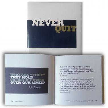 Never Quit Book - Gift of Inspiration Series