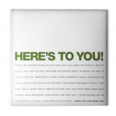 Teacher Gifts - Here's To You Book