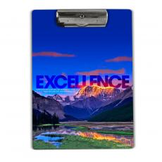Excellence Mountain Acrylic Clipboard