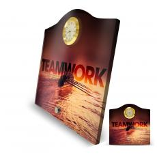Teamwork Rowers Acrylic Desktop Crest Clock