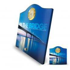 Be The Bridge Acrylic Desktop Crest Clock