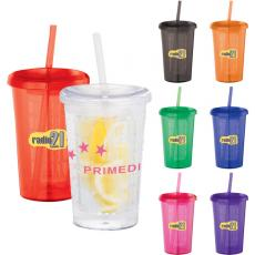 Drinking Glasses - Tutti Frutti - 20 oz tumbler with straw