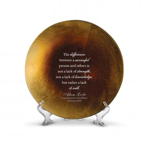 Gold Tuscany Glass Award Plate