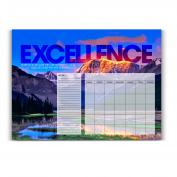 Excellence Mountain Desk Blotter