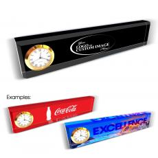 Custom Desk Clock Nameplate