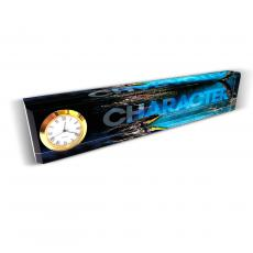 Character Desk Clock Nameplate