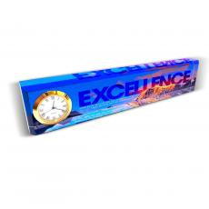 Excellence Mountain Desk Clock Nameplate