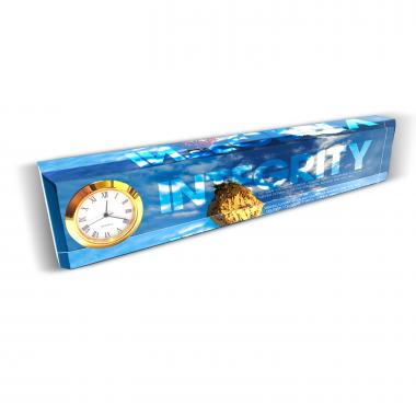 Integrity Rock Desk Clock Nameplate