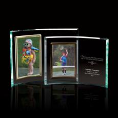 Glass Awards - Portrait Curved Jade Glass Picture Frame