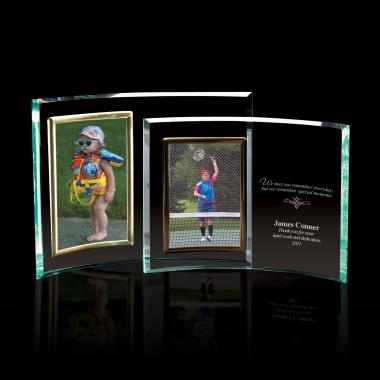 Portrait Curved Jade Glass Picture Frame