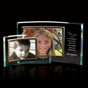 Landscape Curved Jade Glass Picture Frame  (752473)