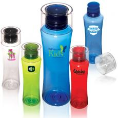 Bottles General - Tritan<sup>™</sup> - 15 oz. plastic water bottle with silicone mouthpiece and screw-on top