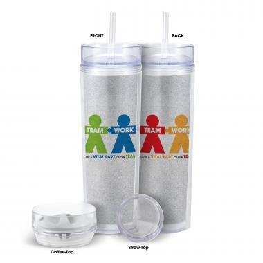 Teamwork People Acrylic Dual-Top 16oz Tumbler