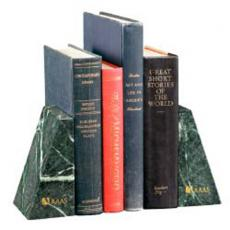 Book Ends - Jaffa<sup>®</sup> Collection;Verde - Verde Marble Bookends