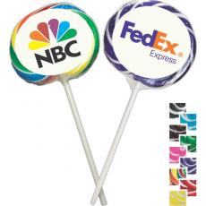 Candy, Food & Gifts - Whirly Pop - Two-tone pop, individually wrapped and decorated with a full-color digital label