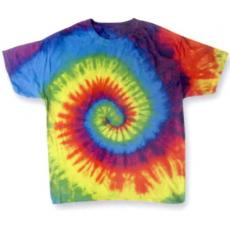 T-Shirts - Reactive Rainbow -  Youth, 100% cotton, tie dye t-shirt. Blank