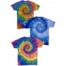 T-Shirts - Dyenomite<sup>™</sup> - Youth ripple tie dye cotton t-shirt. Blank