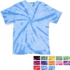 T-Shirts - Dyenomite<sup>™</sup> - Youth pinwheel tie dye cotton t-shirt. Blank
