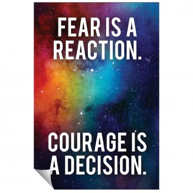 Courage Is A Decision Inspirational Art