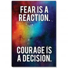Space Series - Courage Is A Decision Inspirational Art
