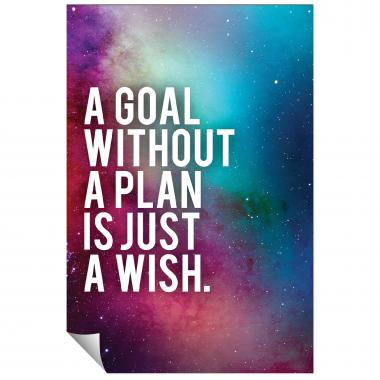 Goal Without A Plan Inspirational Art