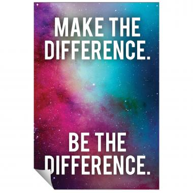 Make The Difference Inspirational Art