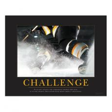 Sports Posters - Challenge Hockey Motivational Poster