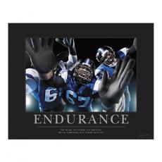 Endurance Football Motivational Poster