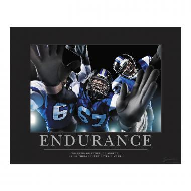 Endurance Football Motivational Poster