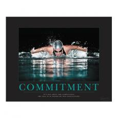 Motivational Posters - Commitment Swimming Motivational Poster