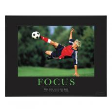 Sports Motivational Posters - Focus Soccer Motivational Poster
