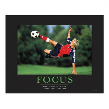 Focus Soccer Motivational Poster