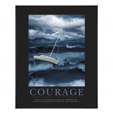 Courage Sailboat Motivational Poster