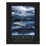 Courage Sailboat Motivational Poster Classic (732326), Motivational Posters