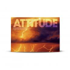 Modern Motivational Cards - Attitude Lightning Infinity Edge 25-Pack Greeting Cards