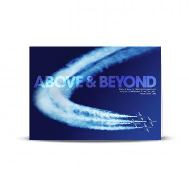 Above & Beyond Jets Infinity Edge 25-Pack Greeting Cards