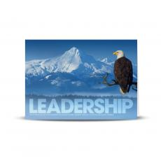 Modern Motivational Cards - Leadership Eagle Branch Infinity Edge 25-Pack Greeting Cards