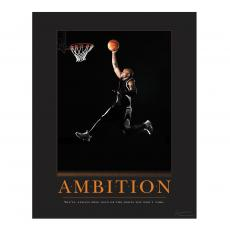 Sports Motivational Posters - Ambition Basketball Motivational Poster