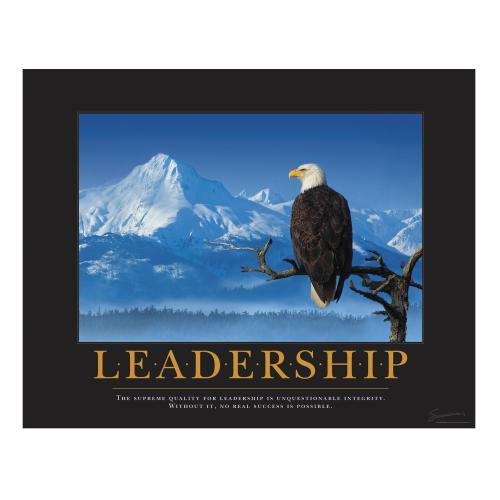 Leadership Eagle Branch Motivational Poster